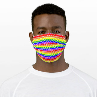 Rainbow Chevron Stripes Colorful Adult Cloth Face Mask