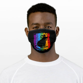 Rainbow Colorful rat for Rainbow Day Adult Cloth Face Mask