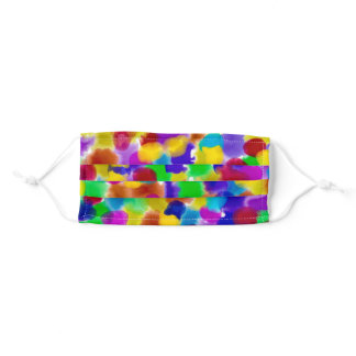 Rainbow Colour splash Adult Cloth Face Mask