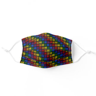 Rainbow Dashes Black Adult Cloth Face Mask