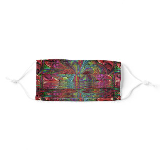 Rainbow Fantasy Mosaic Landscape Stained Glass Adult Cloth Face Mask
