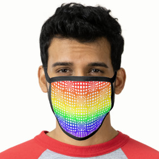 Rainbow Flag Colors Gay Design Net Style GLBTQ Face Mask