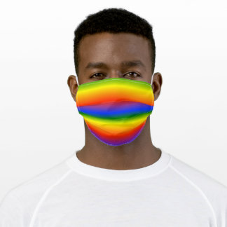 Rainbow Fun Bold Stripes Colorful Adult Cloth Face Mask