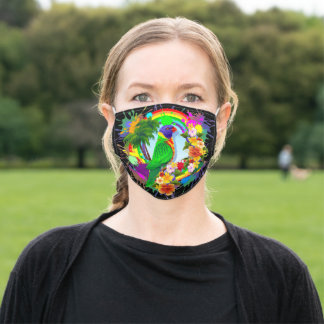 Rainbow Lorikeet Parrot Adult Cloth Face Mask