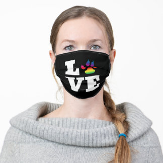 Rainbow paw adult cloth face mask