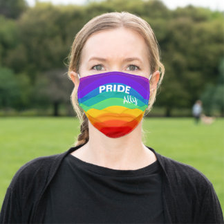 Rainbow Pride Ally Adult Cloth Face Mask