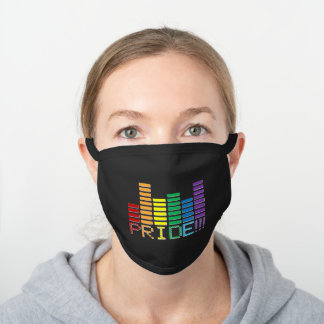 RAINBOW PRIDE SOUNDBAR BLACK COTTON FACE MASK