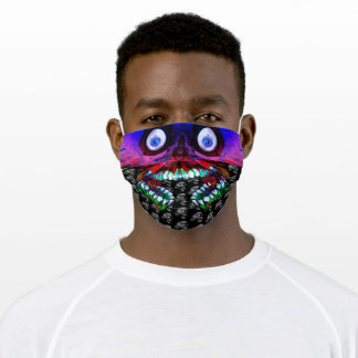 Rainbow Skull pattern Happy and Smiling Adult Cloth Face Mask