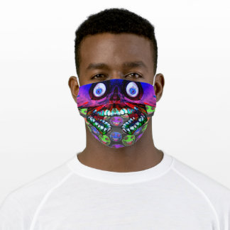 Rainbow Skulls with smiling face Adult Cloth Face Mask