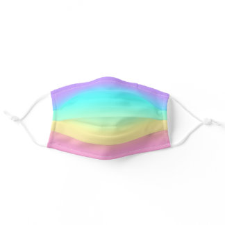Rainbow Spring Pastels in Gradient Stripes Adult Cloth Face Mask