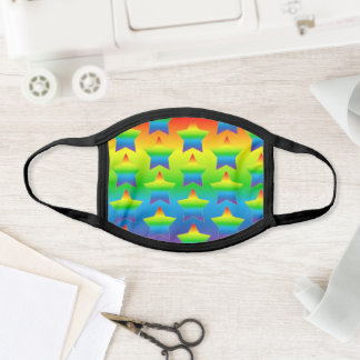 Rainbow Star Print Face Mask