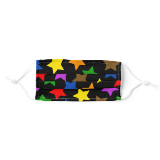 Rainbow Stars POC Inclusive Pride Adult Cloth Face Mask