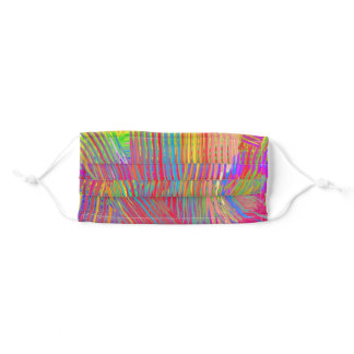 Rainbow-Striped Oil Paint Hand-Painted Adult Cloth Face Mask