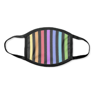 Rainbow Striped Trippy Pattern Cool Pride Stripes Face Mask