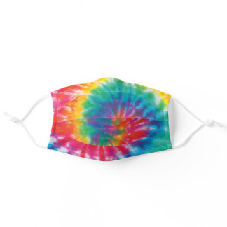 Rainbow Tie Dye Pattern Novelty Adult Cloth Face Mask