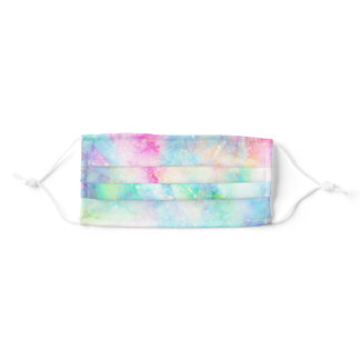 Rainbow Watercolor Abstract Tie Dye Galaxy Adult Cloth Face Mask