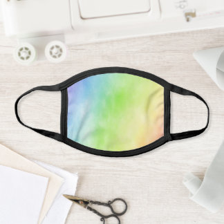 Rainbow Watercolor Face Mask