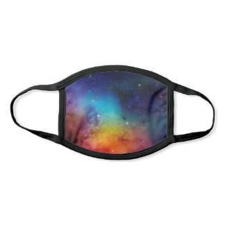 Rainbow Watercolor Space Galaxy Face Mask
