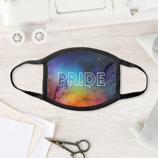 Rainbow Watercolor Space LGBTQ+ Pride Face Mask