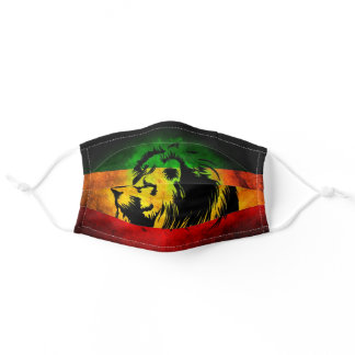 Rasta Lion Cloth Face Mask with Filter Slot
