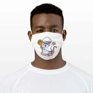 Rat as Chef with Cooking apron Adult Cloth Face Mask