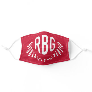 RBG Dissent Necklace   Cloth Mask   Red