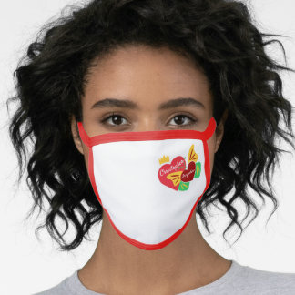Read Hearts, Butterfly Face Mask