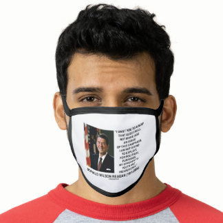 Reagan Not Make Age An Issue Campaign Youth Quote Face Mask