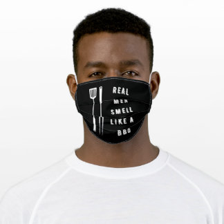 Real men smell like a bbq adult cloth face mask