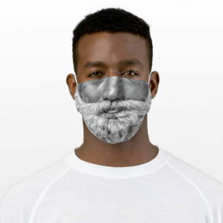 Reality BEARD Monochrome Black and White 1 Adult Cloth Face Mask