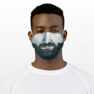 Reality BEARD Monochrome Black and White 3 Adult Cloth Face Mask