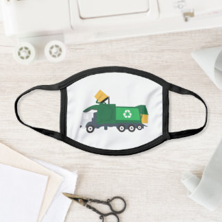 Recycling Garbage Truck Face Mask