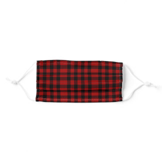 Red And Black Plaid Adult Cloth Face Mask