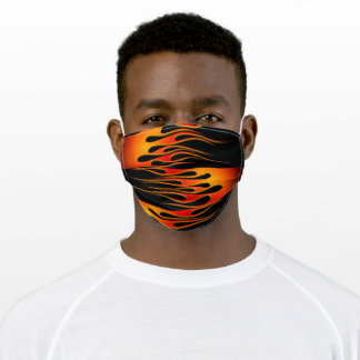 Red and Orange Hot Rod Flames Adult Cloth Face Mask