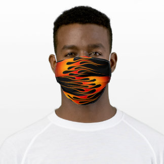 Red and Orange Hot Tod Flames Adult Cloth Face Mask