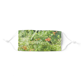 Red And White Flowers Adult Cloth Face Mask