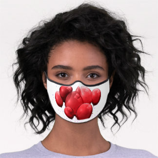 Red Balloons Premium Face Mask
