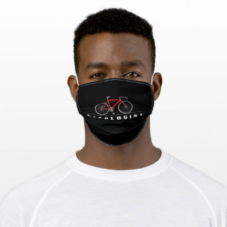 red bicycle humor adult cloth face mask