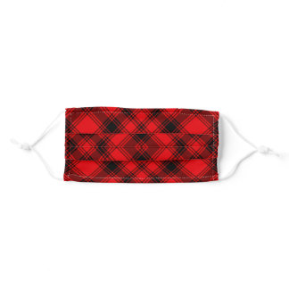 Red & Black Plaid Adult Cloth Face Mask