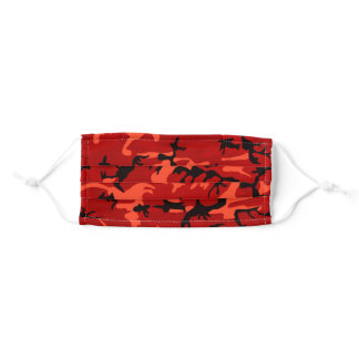 Red Camouflage Pattern Personalized Adult Cloth Face Mask