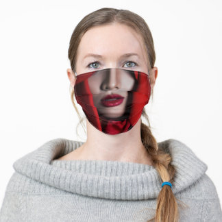 Red Costume She Devil Adult Cloth Face Mask