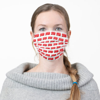 Red Double Decker Bus & London / City Transport Adult Cloth Face Mask