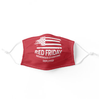 Red Friday American Flag Military Adult Cloth Face Mask
