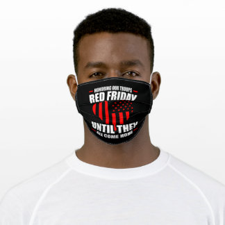 Red Friday until They Come Home Military Spouse Adult Cloth Face Mask
