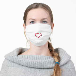 Red Heart Lips Adult Cloth Face Mask