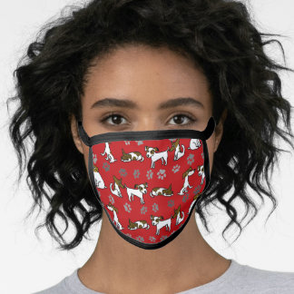 Red Jack Russell Terrier Face Mask