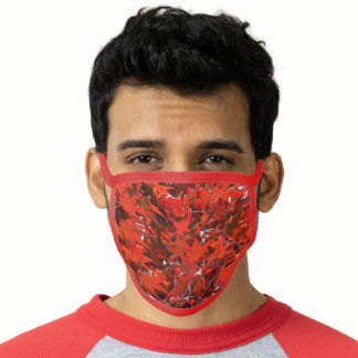 Red Japanese Maple Leaf Tree Face Mask