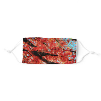 Red Leafs In FAll Adult Cloth Face Mask
