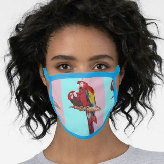 Red Macaw Parrot parrots Bird pink Face Mask