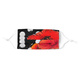 red poppies adult cloth face mask